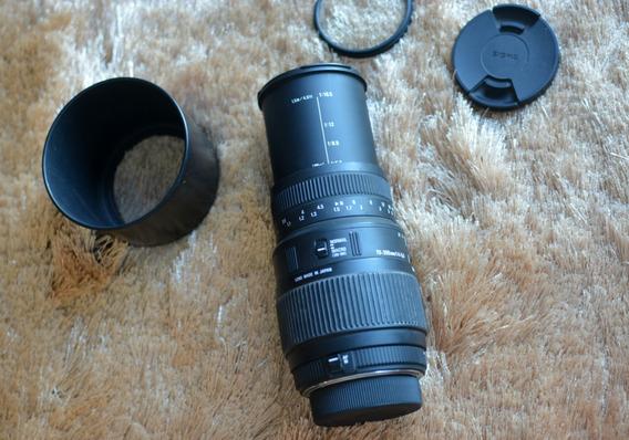 Lente Sigma Nikon 70-300mm F4-5.6 Macro Autofoco Parasol