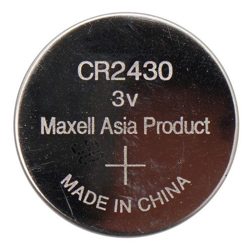 Promo 5 Pilas Maxell Cr2430 3v P/ Sensores, Alarmas Fac A