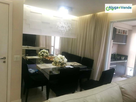 Apartamento Com 3 Dormitórios, 1 Suíte E 2 Vagas De Garagem À Venda No Condomínio Supera Guarulhos, 86 M² Por R$ 580.000 - Vila Augusta - Guarulhos/sp - Ap0140