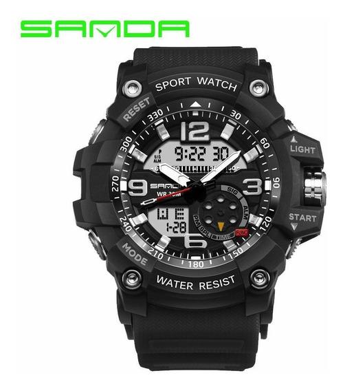 Relógio Sanda Analógico Digital Esportivo Militar Promoção