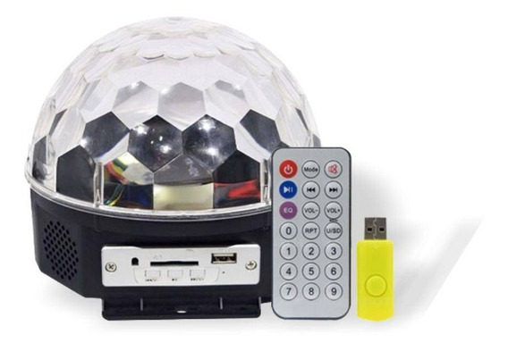 Globo De Luz Para Festa Bola Maluca Magic Ball 6 Cores Usb