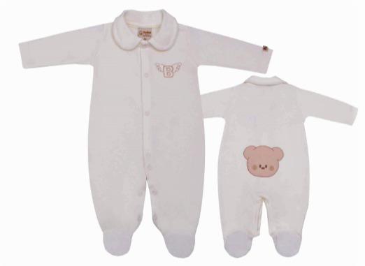 Macacão Neutro Urso Na Bundinha Baby Doces Momentos - G