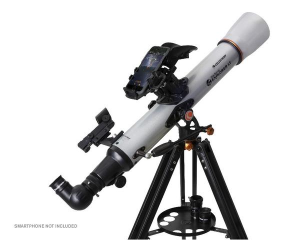 Telescópio Celestron Com Autoguide Smartphone Explorer 70
