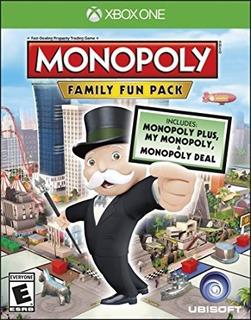 Monopoly Family Fun Pack Xbox One Fisico Nuevo Sellado