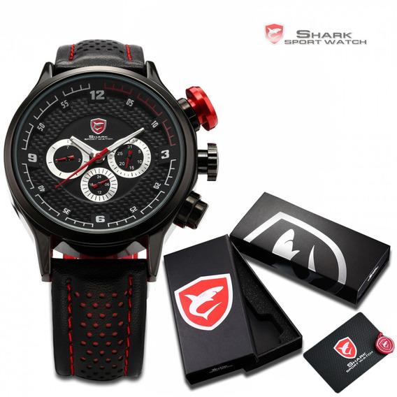 Relógio Shark Masculino Racer Esportivo Luxo Pronta Entrega