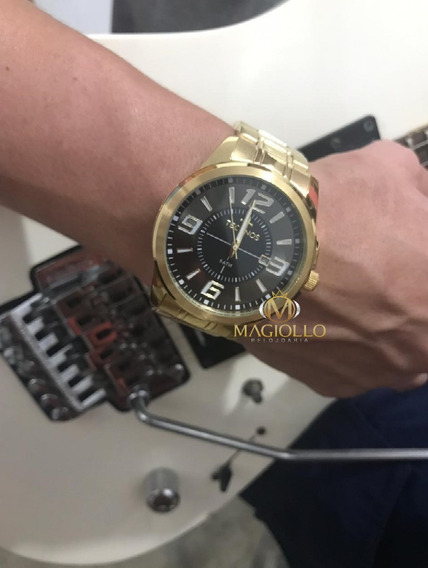 Relógio Technos Masculino Dourado Aço 2115laa/4c Original