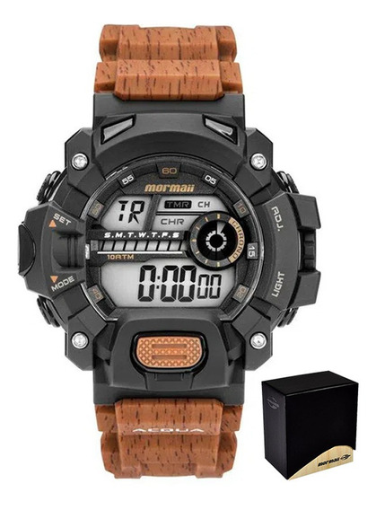 Relogio Mormaii Masculino Acqua Digital Marrom Mo1132ah/8m