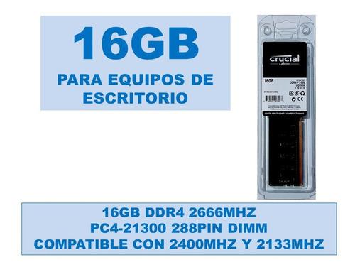 Memoria 16gb Ddr4 2666mhz Pc4-21300 Equipos De Escritorio