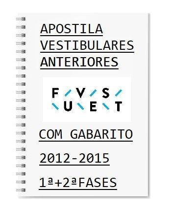 Fuvest 1ª E 2ª Fase Provas Anteriores 2012 A 2015 + Gabarito