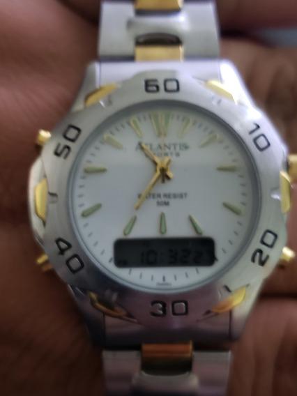 Relógio Atlantis Analógico-digital Social Raridade