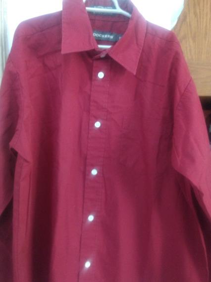 Camisa Dockers Roja Ideal Para Niños De 8 A 10 Años