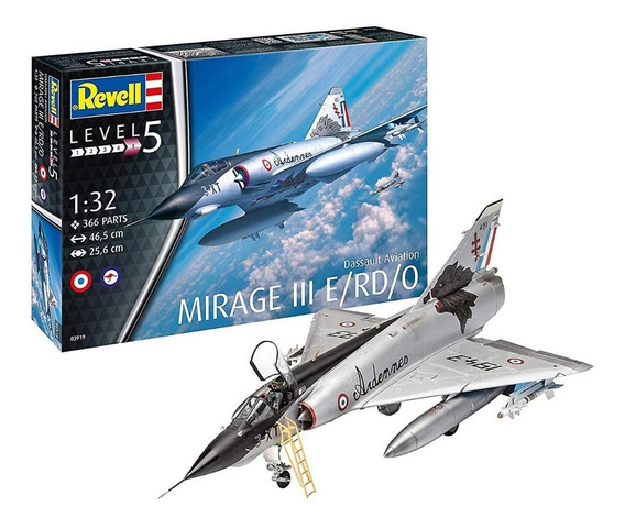 Mirage Avion 1/32 Revell 3919 Maqueta Armar Escala La Plata