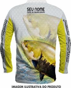 Camisa Para Pesca Com Proteção Uv+nome Gratis E Bandana R12