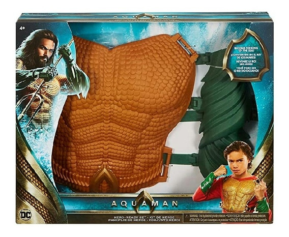 Set Aquaman Disfraz Mattel. Liga De La Justicia