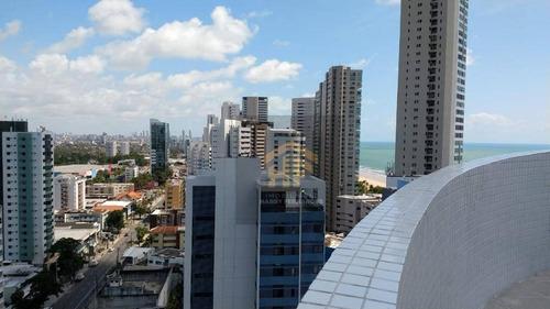 Apartamento Com Vista Pro Mar De 03 Quartos Em Boa Viagem, Recife - Ap0605