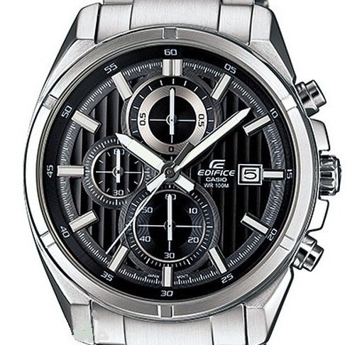 Relógio Casio Efr-532zd Aço Cronografo Calendário Semi Novo