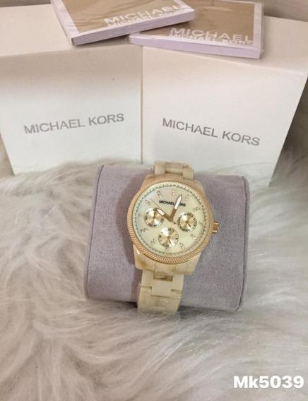Relógio Lk10 Michael Kors Mk5039 Madreperola Luxo Oferta