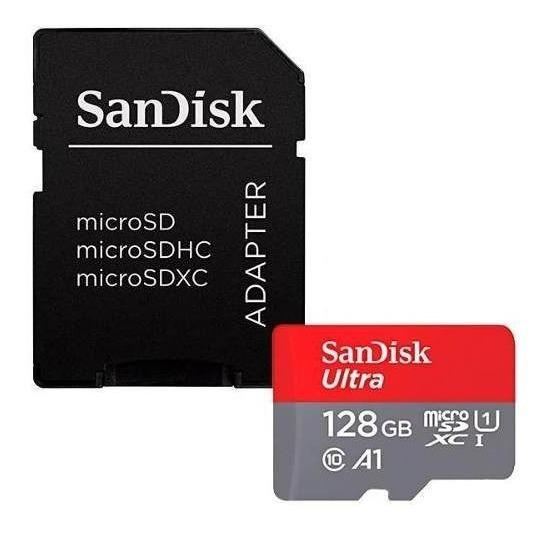 Cartão De Memória Micro Sd De 128gb Sandisk Ultra