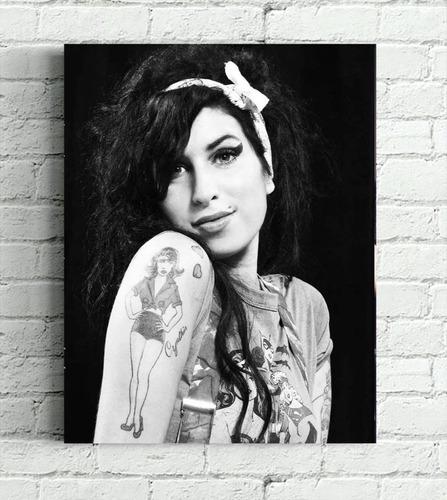 Amy Winehouse Impressão Em Canvas 30x40cm