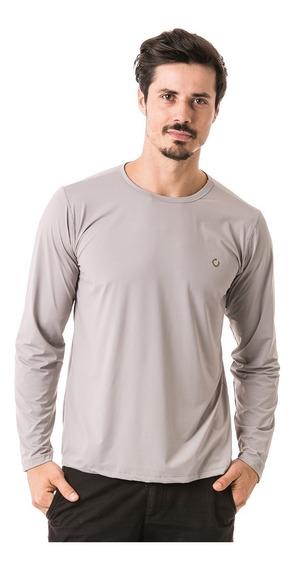 Camiseta Com Proteção Uv Fpu50+ Masculina Poliamida Ice