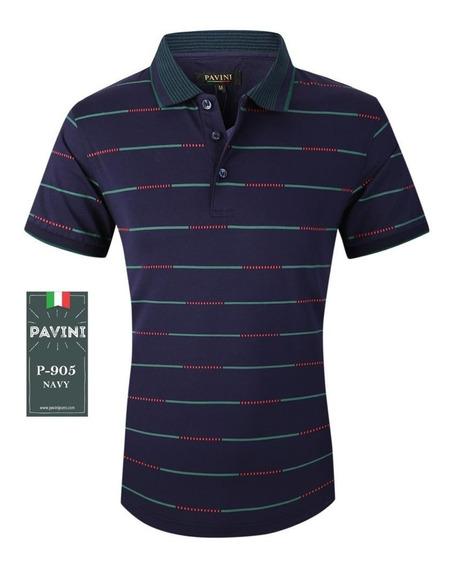 Playera Hombre Polo Pavini Original 905 Azul Marino ( 1 )