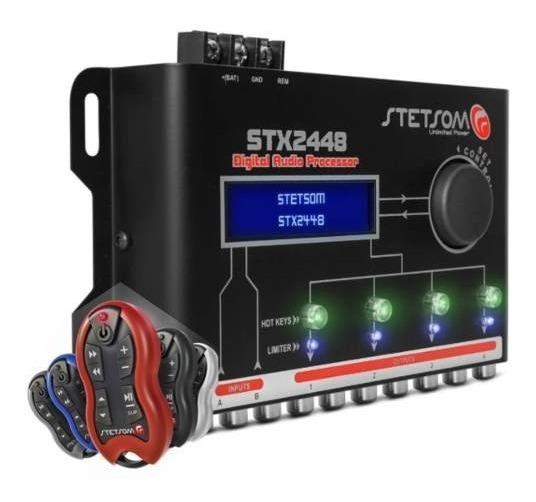 Kit Processador Equalizador Stx2448 Stetsom + Controle Sx-2