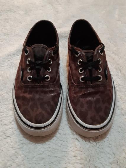 Zapatillas Vans Mujer Negras Animalprint 35.5 Importadas