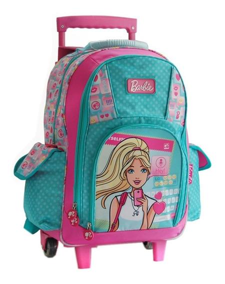 Mochila Con Carro Grande 17 Pulg Barbie 16737 Mundo Manias
