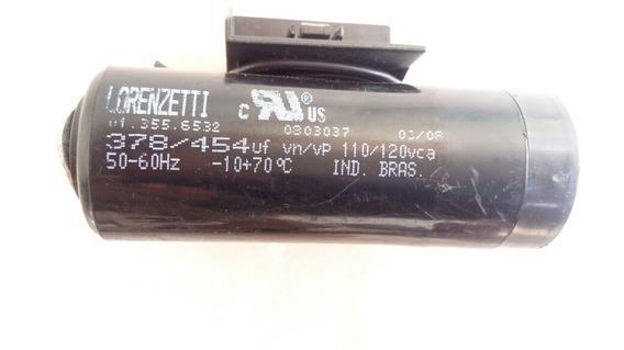 Capacitor Lorenzeti 378/454uf 120vca Kit4peças
