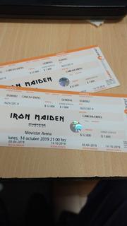 Entradas Iron Maiden Movistar Arena
