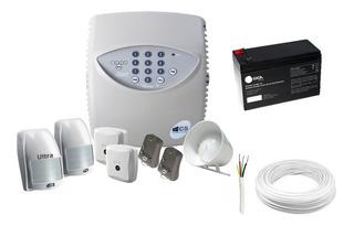 Kit Central De Alarme Residencial Completo Com 4 Sensores