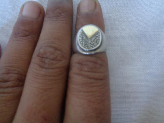 Anel Prata De Lei Ouro Aro 10 4,5 Gramas 86*