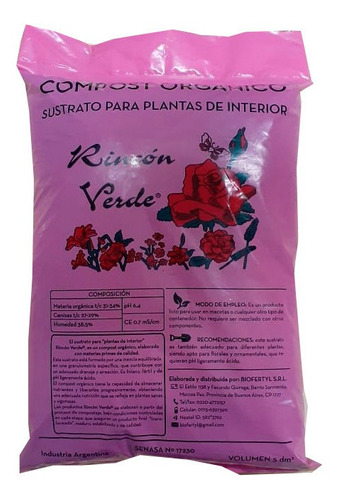 Sustrato Plantas De Interior De 5dm3 Biofertyl Especial