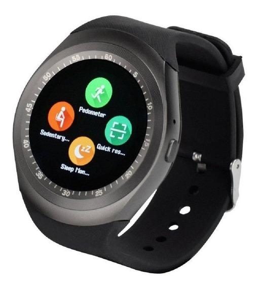 Smart Watch Y1 Reloj Inteligente Celular Redondo Sim Camara