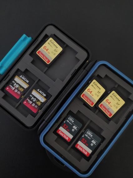 Kit 7 Cartões De Memória Sd ( 5x 64gb E 2x 32gb)