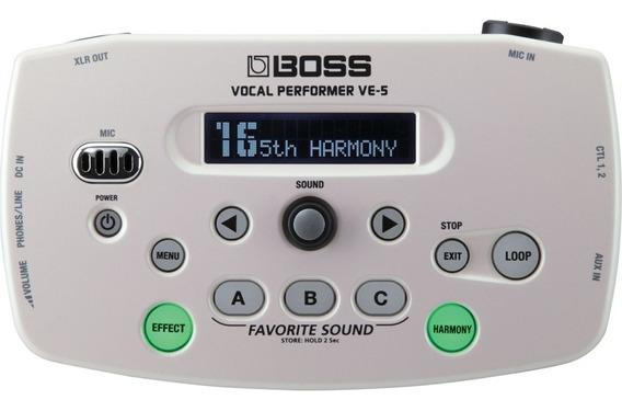 Pedal Boss Ve-5 Efeitos Vocal Dueto Harmony Auto Afinação