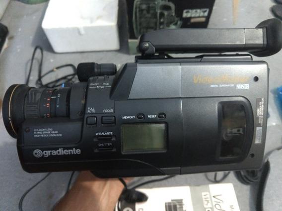 Filmadora Gradiente Gc 160 Antiga Completa Vhs-c