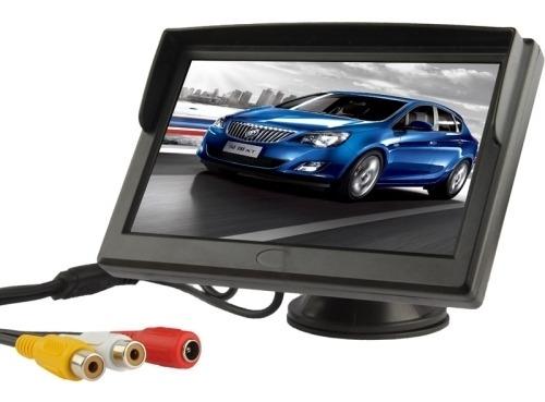 Monitor Vehiculo Tft Lcd Color 5 Soporte Seguridad