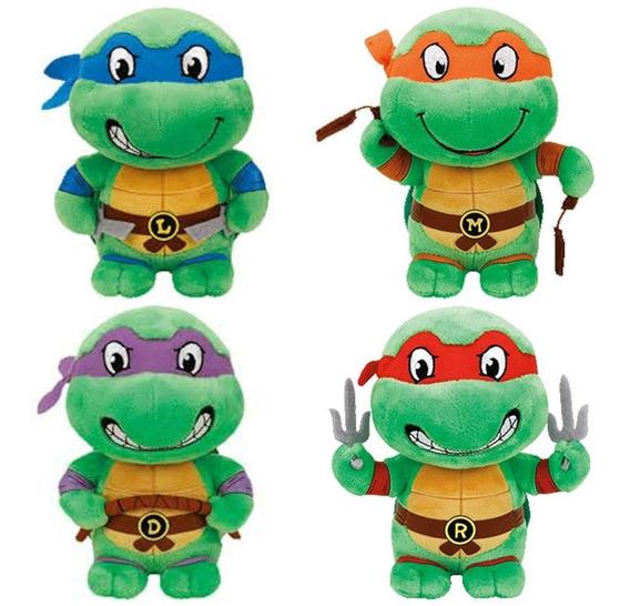 Tartarugas Ninja De Pelucia 16cm Dtc -