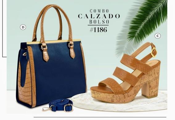 Bolso Azul Marino/camel 857-00 Cklass Primavera-verano 2020