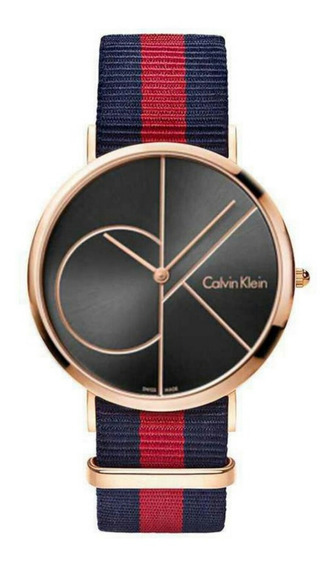 Relógio Calvin Klein Unisex Model M1741 Gold Rose Com Caixa