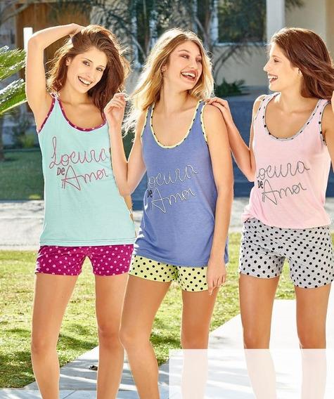 Pijama Mujer Verano Susurro 2522 Talles Grandes Hasta El 8