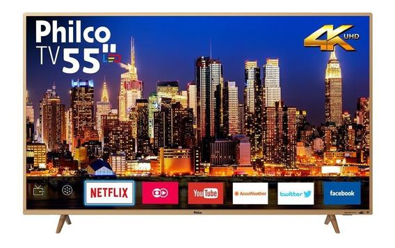 Tv Philco Led 4k 55 Ptv55f61snc - Bivolt