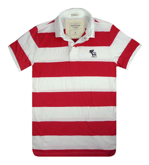 Camiseta Polo Abercrombie Hollister - Branca Big - A44 &*#