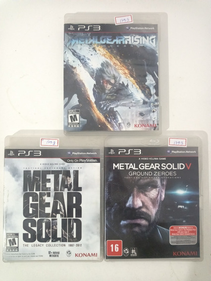 Jogo Sony Ps3 Combo Metal Gear Solid E Metal Gear Rising