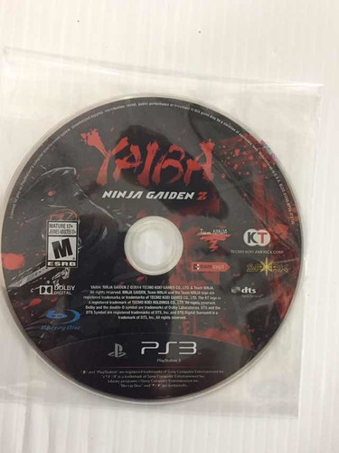 Ninja Gaiden Yaiba Ps3