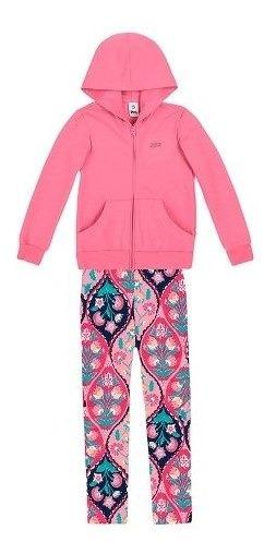 Conjunto Moletom Infantil Menina Com Jaqueta E Calça