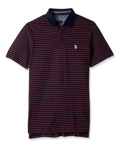 Camisa Polo Masculina Roxa, Polo Assn