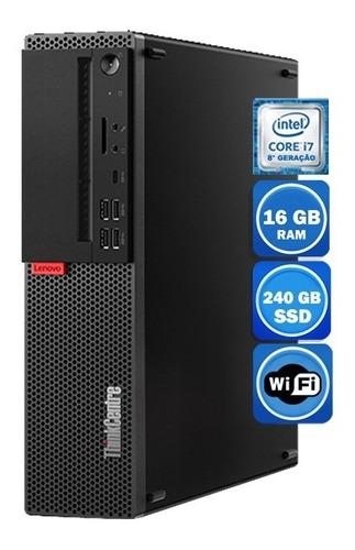 Pc Lenovo M920s I7 8°geração 16gb Ssd 240gb Wi-fi
