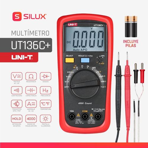 Tester Multimetro Capacimetro Digital 40mf Uni-t Ut136c+